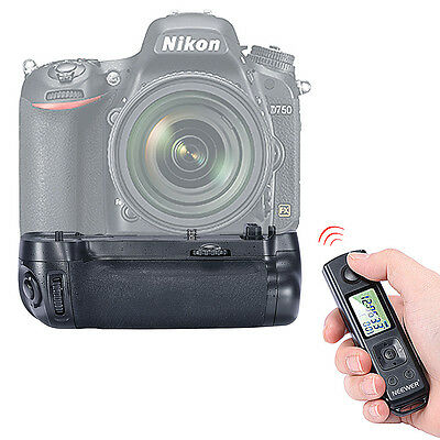 Neewer Built-in 2.4GHz Wireless Control Battery Grip for Nikon D750 DSLR Camera