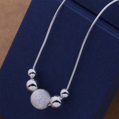 925 charm nice Silver fashion cute women Beads classic Necklace AN540