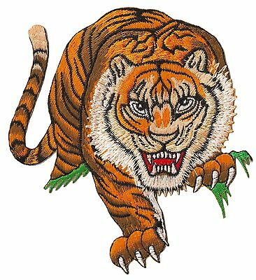 Embroidered badge hotfix thermo adhesive patch Tigre patch decorative clothing