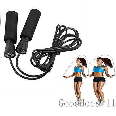 Aerobic Exercise Boxing Rope Skipping Jump Adjustable Bearing Speed Fitness BLK