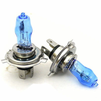 H4 HEADLIGHT GLOBES CAR LIGHT BULBS 100/90W 6000K 12V XENON SUPER WHITE (1 Pair)