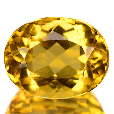 Amazing 2.85 Cts Top Quality Golden Yellow Color Natural Beryl Gemstone