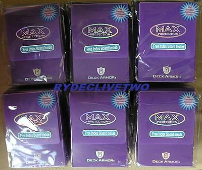 Max Protection Deck Armor Lot of 6 Purple Deck Boxes - New
