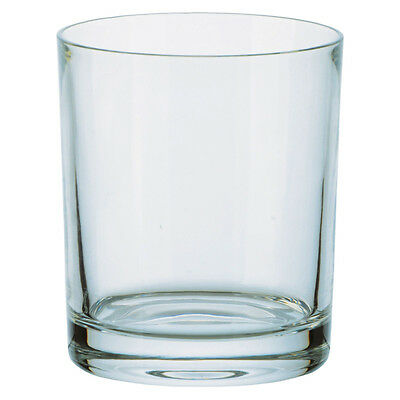 6 PLAIN 24% LEAD CRYSTAL GLASS WHISKY TUMBLERS 35cl Fine Quality Czech Made NEW