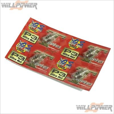 O.S. OS Glow Plug P3 Ultra Hot Turbo 4 pcs (RC-WillPower)