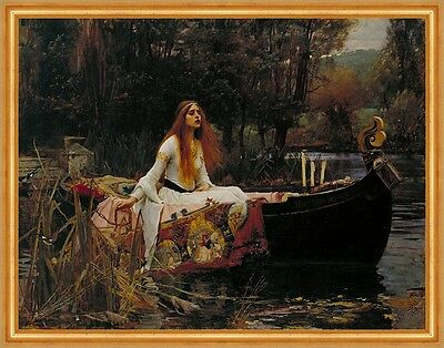 The Lady of Shalott John William Waterhouse Tennyson Gedicht Boot B A2 02693