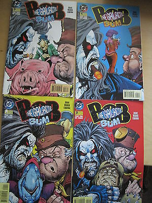 LOBO : BOB,the GALACTIC BUM : COMPLETE 4 ISSUE SERIES by GIFFEN & GRANT. DC.1995