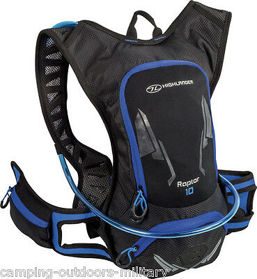 Highlander 10 L Hydration Pack Rucksack Backpack & water bladder Cycling Running