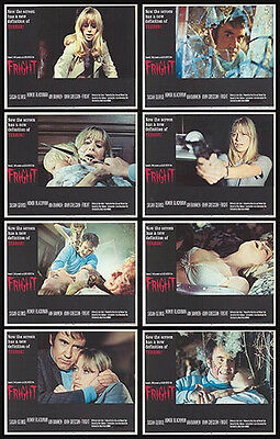 FRIGHT original 1971 lobby card set SUSAN GEORGE/IAN BANNEN 11x14 movie posters