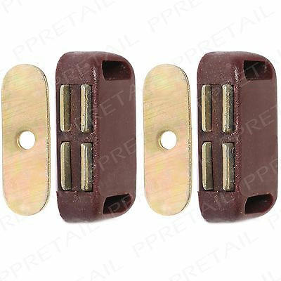 2x Magnetic Door Catches Small Wardrobe Catch Lock Pull Holder Cabinet/Cupboard