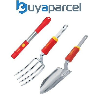 Wolf Garten Small Handle ZM04 & LUGM Hand Fork & LUSM Trowel Multi Change Tools
