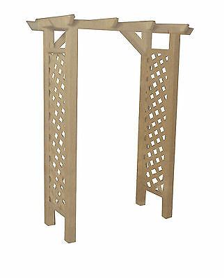 1:12th Scale Natural Finish Wood Garden Arbour Dolls House Miniature Accessory