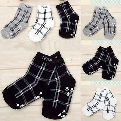 Fashion Toddler Boys Cotton Plaid Socks Anti-slip Children's Fashion Retro Socks