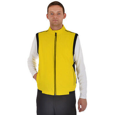 adidas Performance Mens ClimaProof Stretch Wind Vest Sleeveless Golf Gilet - L