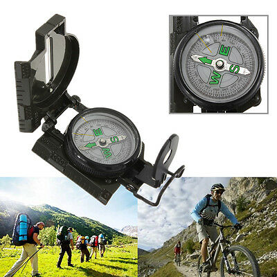 Pocket Military Compass Outdoor Camping Hiking Climbing Lensatic Navigation 3in1