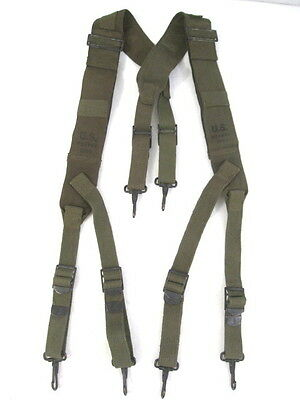 post-WWII US Army M1944 Combat Field Pack Suspenders Dated Early 1950's
