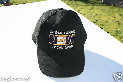 Ball Cap Hat - USW United Steel Workers Local 2009 Trade Union Langley BC (H1316