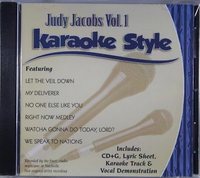 Judy Jacobs Volume 1 Christian Karaoke Style NEW CD+G Daywind 6 Songs