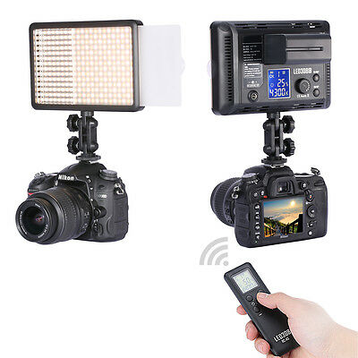 Neewer Photo Studio LED308C Dimmable Video Light w/Wireless Remote f Canon,Nikon