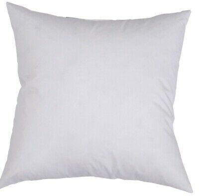 12 Cushion Pillow Inserts 45 x 45 cm White Outer Case Hypoallergenic Fibre New