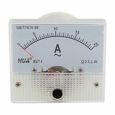 AC 0-20A Measuring Range Analog Ampmeter Ammeter Current Panel Meter Gauge