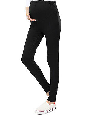 Women's Solid Cotton Pants Trousers Maternity Pregnant Leggings