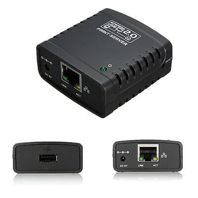 1 Port USB 2.0 LRP Print Printer Server Ethernet Share a Networking Hub Adapter