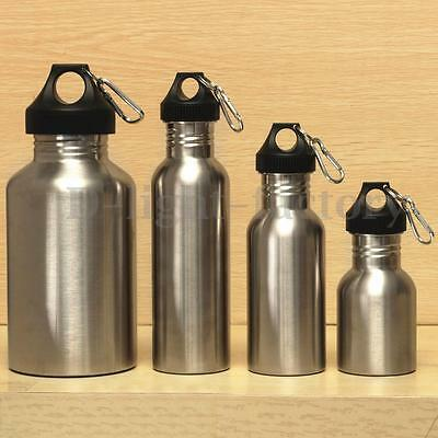 350/500/750/2000ML Stainless Steel Wide Mouth Drinking Water Bottle Sports Cycle