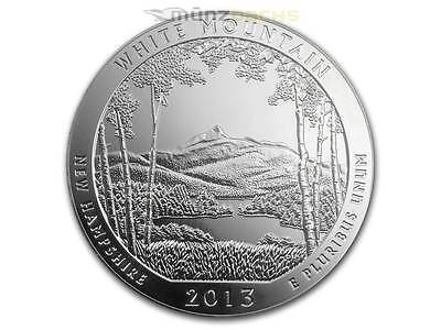 America the Beautiful ATB White Mountain New Hampshire 5 oz Silber USA 2013