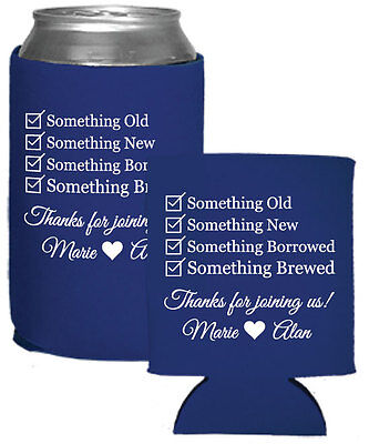 150 Custom Personalized Foam Can Coolers Perfect for Wedding Favors