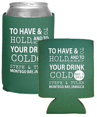 200 Custom Personalized Foam Can Coolers Perfect for Wedding Favors