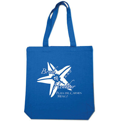 50 Custom Personalized Tote Bags Perfect for Destination Wedding or Event Favors