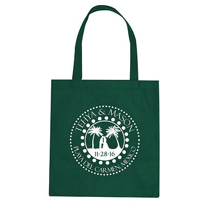 100 Custom Personalized Tote Bags Perfect for Destination Wedding or Event Favor