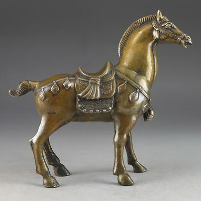 China's rare copper old manual hammer the statue of horse