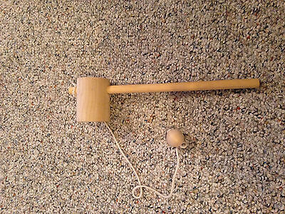 Wooden Ball and Cup Toy Pioneer Old Fashioned Game