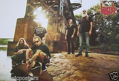 LAMB OF GOD POSTER FROM ASIA - Group Standing Beneath Bridge
