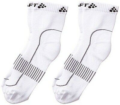 Craft Stay Cool Lot de 2 chaussettes Blanc FR : chaussettes : M 40-42 NEUF