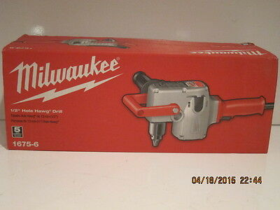 "MILWAUKEE 1675-6, 1/2"" Hole-Hawg Two-Speed HEAVY DUTY Drill, 300/1,200 RPM NEW!"
