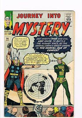 Journey into Mystery # 94 Kirby Thor grade 4.0 - movie super scarce hot book !!