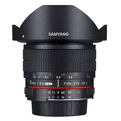 Samyang 8mm F/3.5 UMC FISH EYE CS II per SONY E Mount GARANZIA FOWA 5 ANNI
