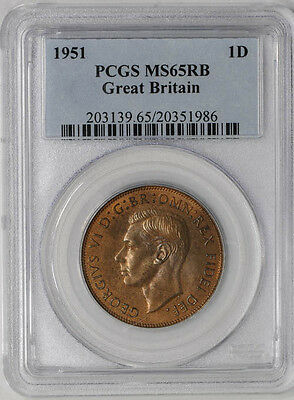 1951 Great Britain 1D MS65 RB PCGS