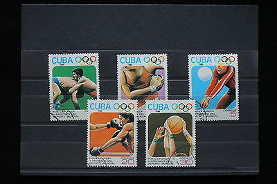U/b713 - Olympics Games: 1984 - Caribbean -Fine Stamps- Boxing -Volleyball -Used