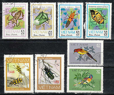 U/b862 - Insects: Vietnam - Fine Stamps - Animals - Birds - Grasshoppers - Used