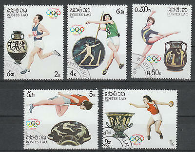 U/e102 - Olympic Games: 1987 - Laos - Fine Stamps- Athletics - Vases - Art -Used