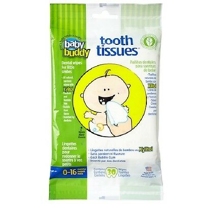 Baby Buddy Tooth Tissues Dental Hygiene Wipes for Baby/Infant/Toddler Teeth/Gums