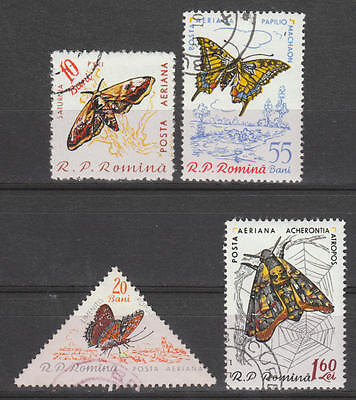 U/g769 - Butterflies: Romania - Fine Stamps - Insects - Nature - Used