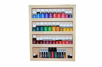 Pine Essential Oils Shelf Cabinet, Fits Young Living Doterra