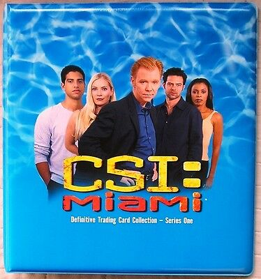 CSI Miami Series 1 Trading Card Binder with Base + Chase Sets + Binder Pages