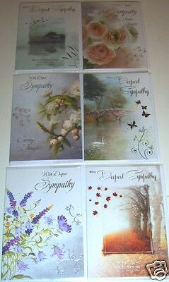 BEAUTIFUL SYMPATHY CARDS by 'ECLIPSE' x72, just 36p!,with inserts,12 designs
