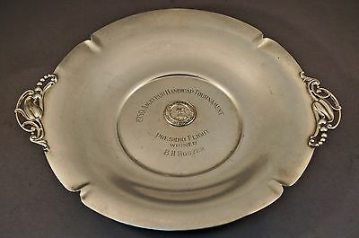 Shreve & Co Sterling Silver San Francisco 1959 Handicap Golf Tournament Plate